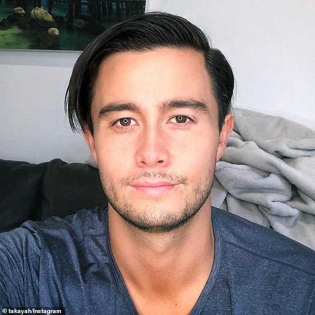 'It is a heaviness that I carry with me at all times': Neighbours actor Takaya Honda discussed the heartbreak of his mother's battle with dementia and the 'feeling of guilt' he 'carries' with him on Wednesday
