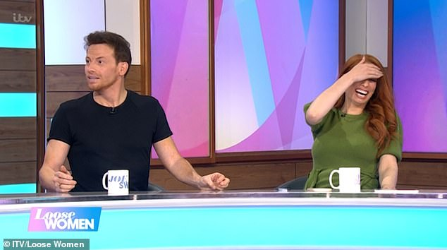 Not happy: Stacey, 31, was seriously unimpressed when Joe, 39, told the panel they were set to wed on the last Sunday in July (July 25)