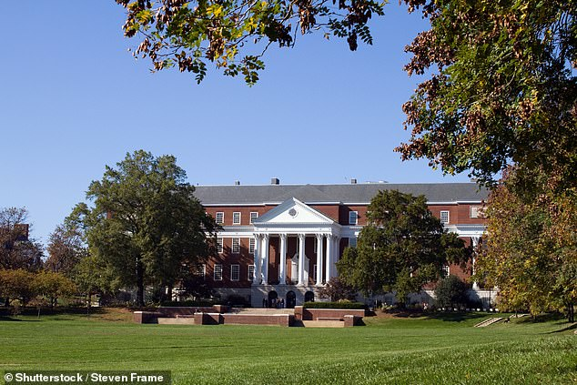 In Maryland, the public University of Maryland will require students returning to all 11 of its campuses this fall to be vaccinated, officials announced on Friday. Pictured:Library and campus of the University of Maryland located in College Park