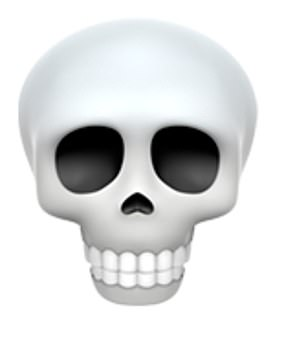 Instead they prefer emojis like the skull