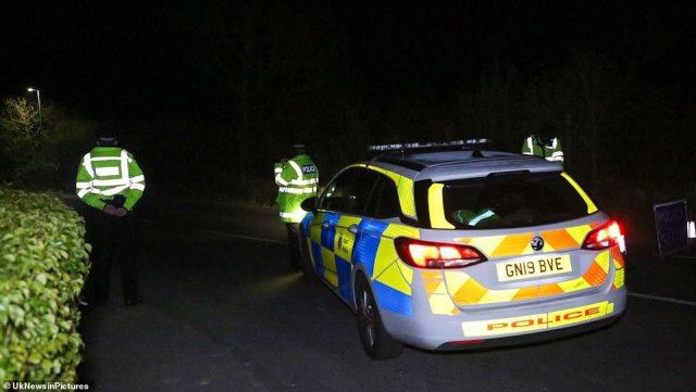 It is understood a heavy police presence remained at the scene late into last night