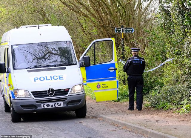 Kent Police earlier confirmed the body was that of a serving PCSO. No arrests have been made in the case