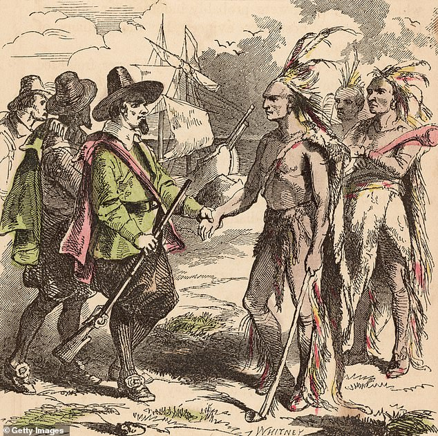 Circa 1653, Samoset (died circa 1653), a Native American of the Abnaki people of the Algonquin nation. In spring 1621, as the Pilgrims were still building the Plymouth settlement, Samoset entered calling out 'Welcome' in English
