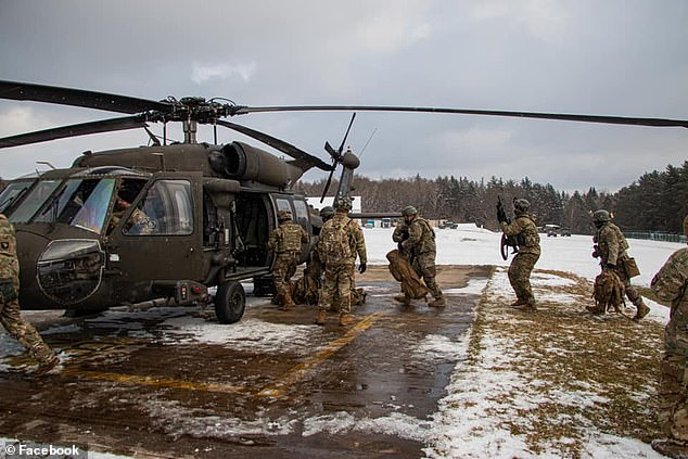 The 101st Combat Aviation Brigade (pictured) was in the midst of a nine-month Europe rotation