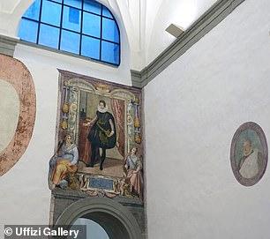 Un retrato a tamaño natural de un joven Cosimo II de 'Medici fue descubierto escondido detrás de yeso en una pared en la Galería Uffizi de Florencia.