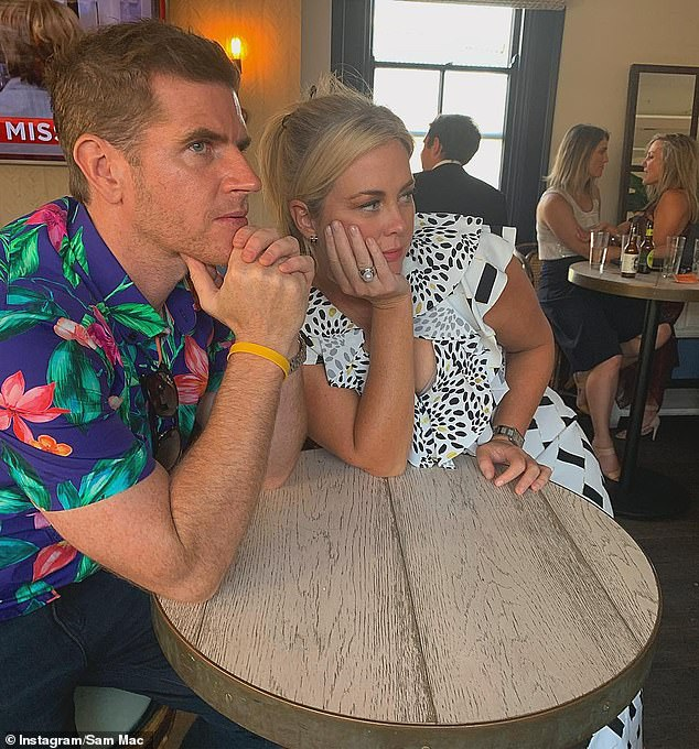 Subtle swipe? Sunrise weatherman Sam Mac (left) did little to dispel rumours of a longstanding rift with Samantha Armytage (right) in March with a cheeky post referring to himself as her 'favourite sociopath/narcissist' following her breakfast TV farewell