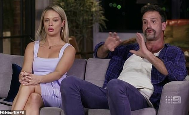 Rise to fame: Jessika rose to fame on Married At First Sight in 2019. She was married to farmer Mick Gould, but they split. Pictured is Jessika with Mick