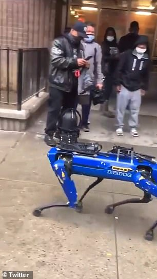 A video shows the Digidog being tested by NYPD officers
