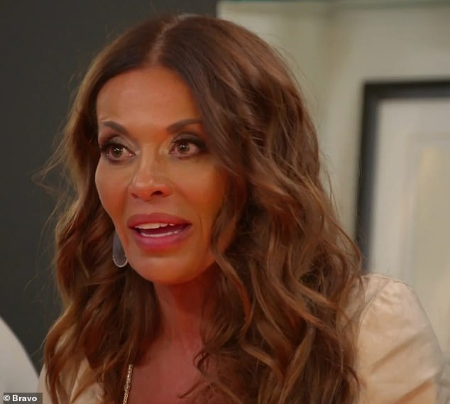 Stormed out:Dolores Catania angrily stormed out of a party after Joe Gorga called her a 'broken woman' on Wednesday's episode of The Real Housewives Of New Jersey