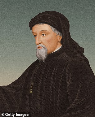 Portrait of Geoffrey Chaucer (c 1342 to 1400)