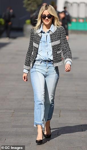 Fashionista: Ashley looked confident in her stylish jacket