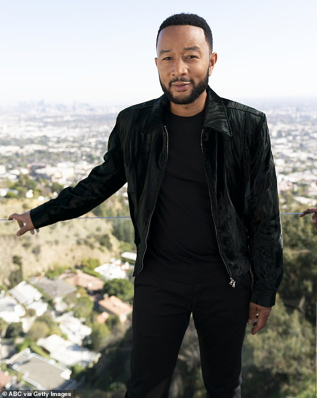 Candid:John Legend has revealed that he felt 'a real sense of community' when he and wife Chrissy Teigen revealed they had lost their baby son (pictured in March)