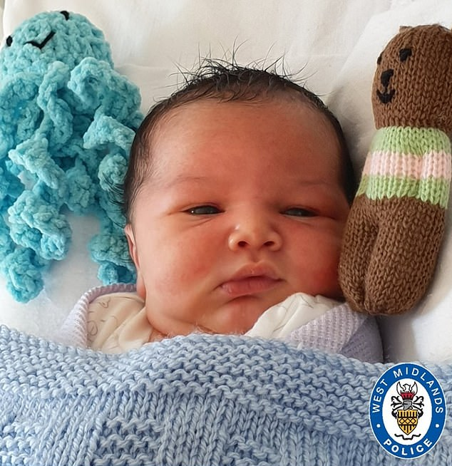 The newborn has since been named George by hospital staff, because he was discovered the day before St George's Day.