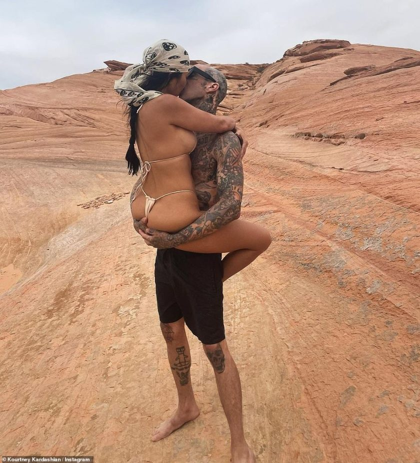 'Just like heaven'The eldest Kardashian-Jenner sister, 42, has been glowing of late on social media, thanks to her titillating new romance with rocker boyfriend Travis Barker and her more fresh-faced snaps