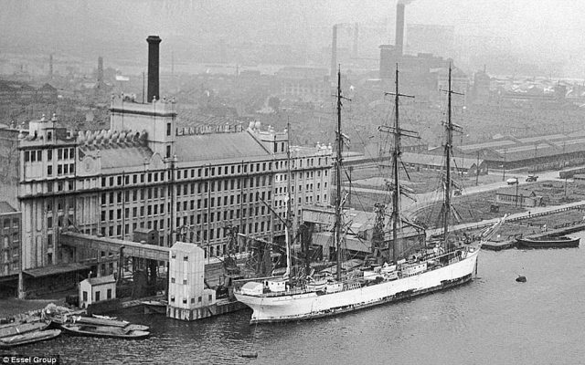 The 1930s Millennium Mills building in Silvertown, which could soon be transformed into a cultural centre, is pictured in its heyday
