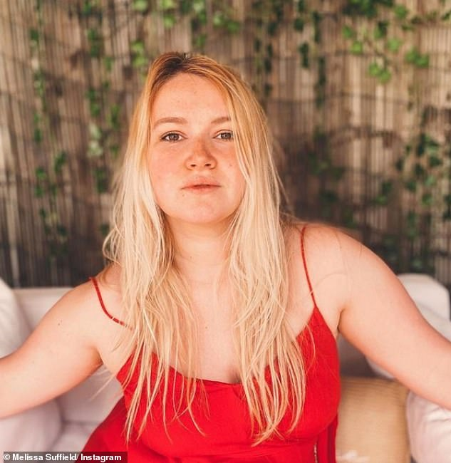 Gorgeous: The soap star uploaded a photo in a red silk dress and told fans she almost didn't post it because of how she looked