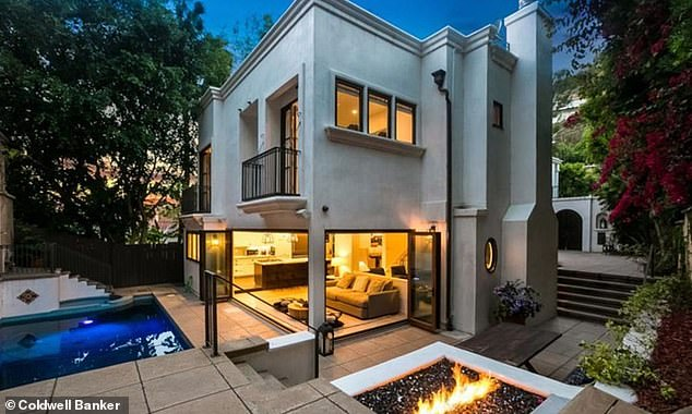 'Folks who live near Shawn and Camila are spending $5,000 to $10,000 on new security cameras with floodlight censors designed to scare off burglars,' TMZ reported this week (Cabello's home pictured)