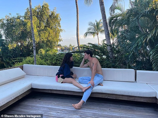 Loved-up display:Cabello and Mendes began dating in July 2019