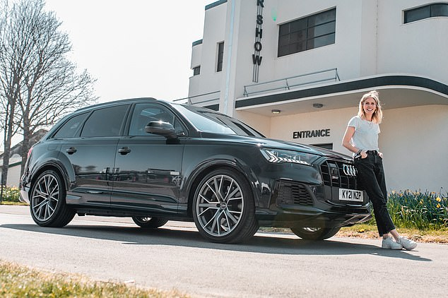 The Vorsprung trim version of the Audi SQ7 with extras costs £98,940 though the range starts at £79,845, with standard Q7s from £58,570.