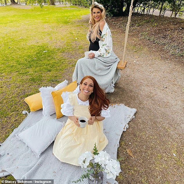 Besties: Last week, she was reunited with her best friend Stacey Solomon for the first time in months due to the coronavirus lockdown