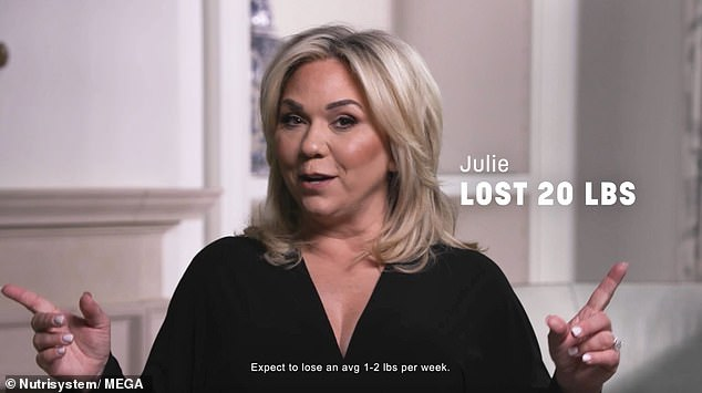 On the right track: Chrisley Knows Best star Julie Chrisley, 48, reveals she's lost 20 pounds thanks to Nutrisystem after it gave her the tools to keep her 'on the right track,' after revealing a tendency to overeat