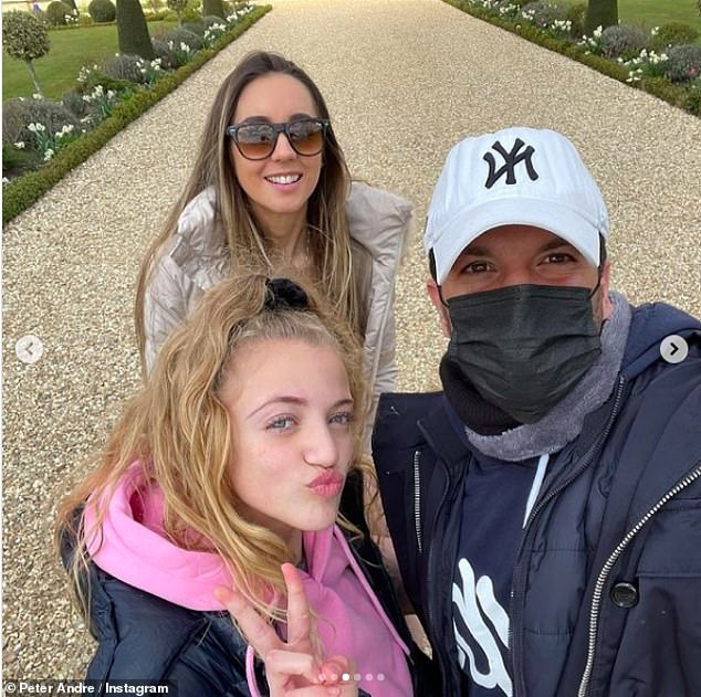 Unwell: His father Peter, 48, and his wife EmilyMcDonagh, 31, have also battled COVID (Peter pictured with Emily and daughter Princess, 13, who he shares with ex Katie)