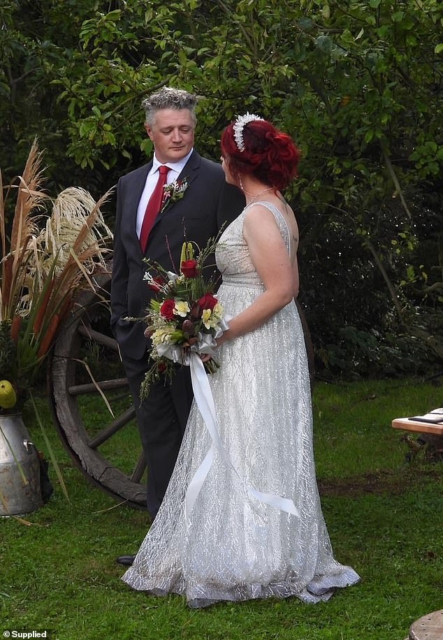 The newly wedded couple got marriedtheir own farm in Gorae near Portland, Victoria