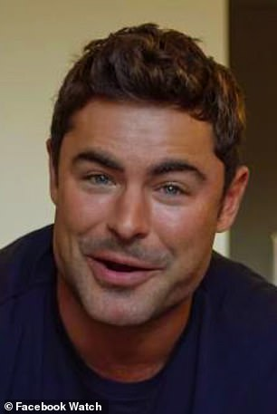 Candid: One of Zac Efron's closest friends has weighed in on the debate over his appearance, saying he couldn't have gone under the knife (pictured last Thursday)