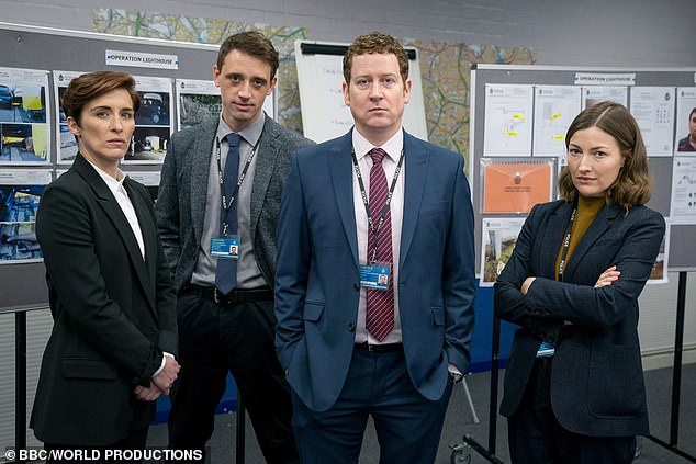 Trust no one: Others who could still turn out to be bent coppers include DCI Jo Davidson (Kelly Macdonald), DCI Ian Buckells (Nigel Boyle) and even DS Chris Lomax (Perry Fitzpatrick)