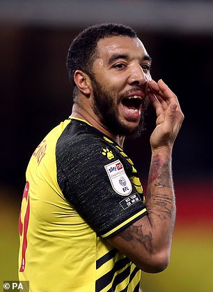 Deeney said he sent a text message to Morgan which read: 'Are these f***ers serious?!' when the topic was almost skipped
