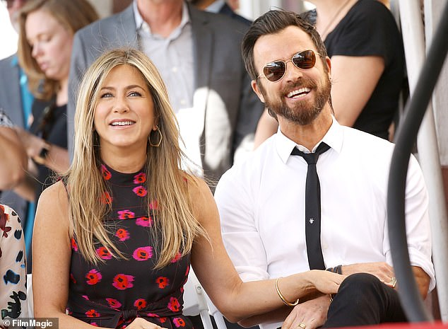Still friends: Aniston's ex-husband Justin Theroux recently opened up about their divorce and says they're still close and talk all the time