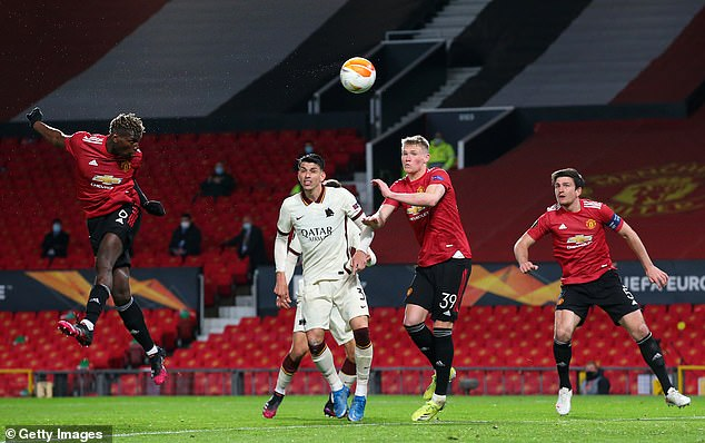 The Frenchman scored a header for United's fifth amid a super performance in the midfield