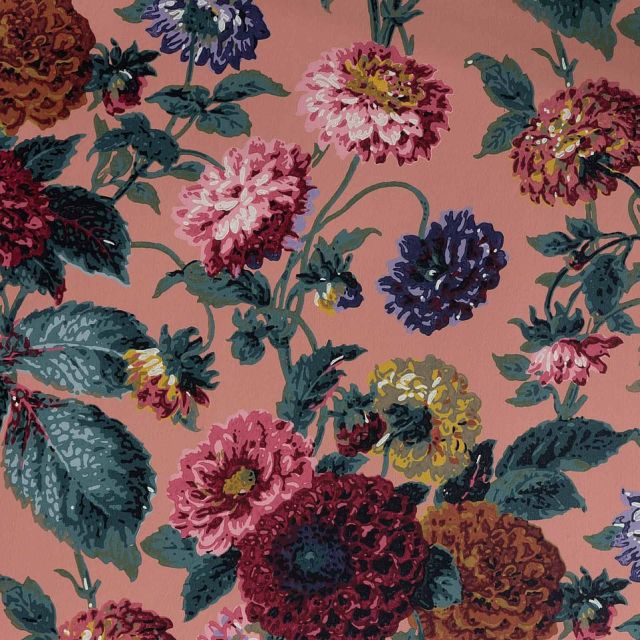 Each roll is block-printed by hand and can be made to order with a bespoke background colour