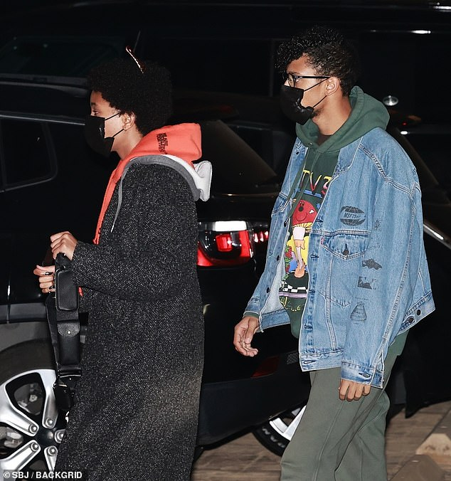 Emerging:Willow Smith stepped out for the first time since revealing she is polyamorous as she headed out for dinner with her boyfriend Tyler Cole at Nobu in West Hollywood onFriday
