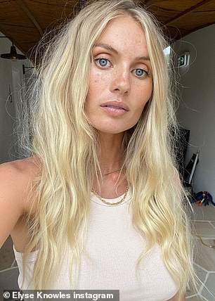 Before and after: Model showed off her pre-baby glow (pictured) towards her post-baby appearance