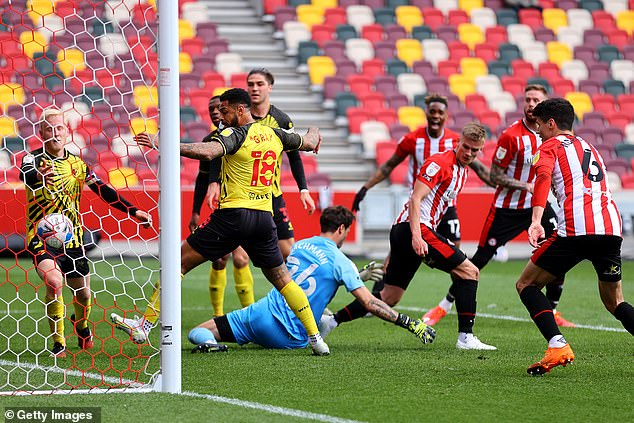 Marcus Forss thought he'd opened the scoring in the first-half but had the goal later ruled-out