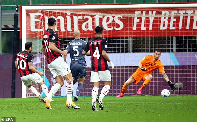 Calhanoglu strikes home to the goalkeeper's left with Milan getting off to the start required