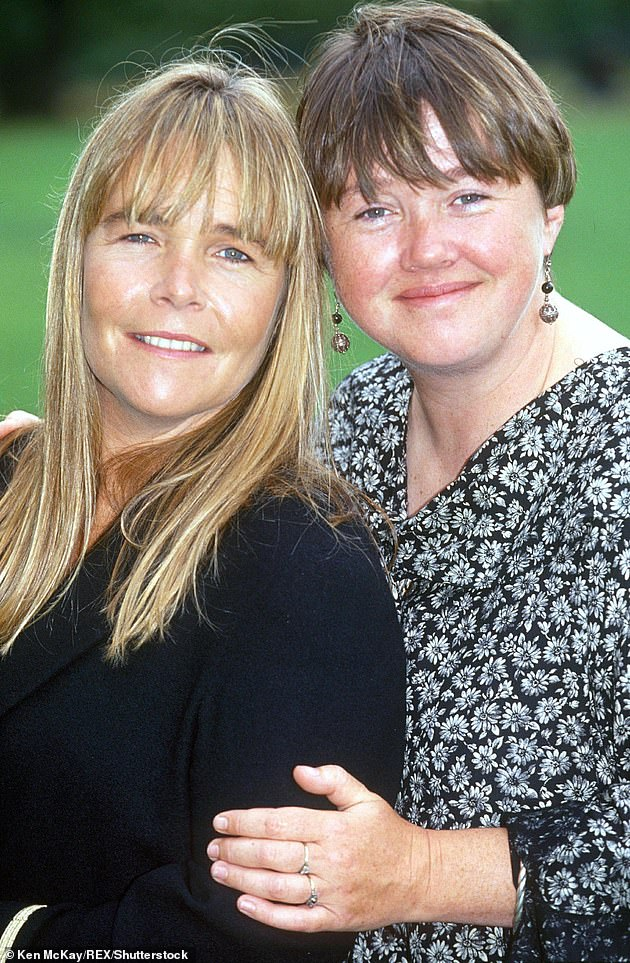 Feud?: Last month Linda has said it was Pauline's 'choice' not to appear in the one-off episode last year and that the cast had 'to respect' her decision. Linda and Pauline are pictured in 1993