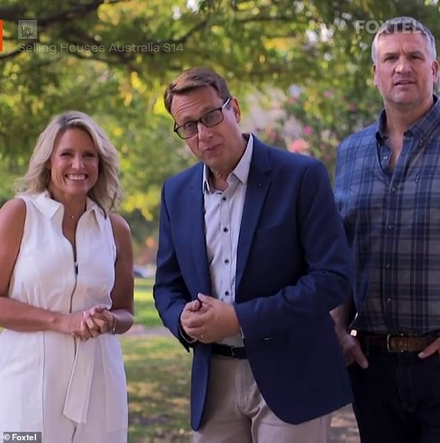 NEW team: Professional real estate agent Andrew (middle) will be joined in the 14th season by former House Rules judge Wendy Moore (left) and former NRL player-turned-landscape gardener Dennis Scott (right)