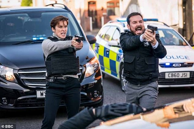 Firing line: Fans have followed the show, which also stars Martin Compston, since its launch in 2012