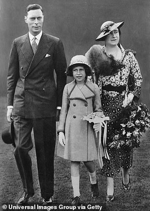 Princess Elizabeth (to become Queen Elizabeth II) with her mother and father in the late 1930s