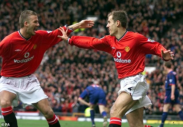Neville played with Beckham on Manchester United from 1994 to 2003 and for England