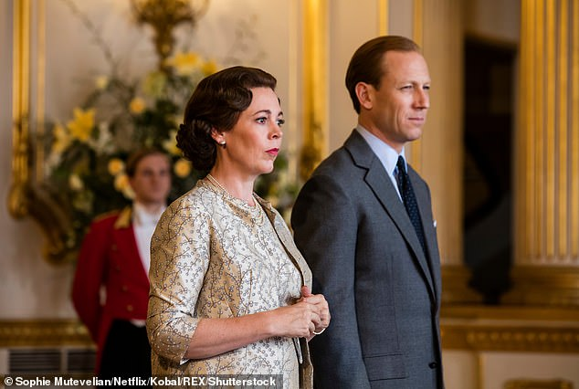 Impressive: The screen star has since received acclaim for starring in The Crown (pictured as Queen Elizabeth with on-screen husband Tobias Menzies)