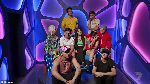 Team decision: The winners of the team challenge - Mitch, Daniel, Carlos, Marley, Christopher, SJ, Jess, Charlotte and Christina - made a group decision to put him up for nomination
