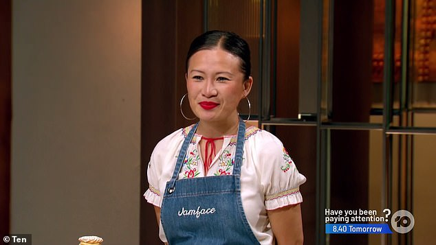 High pressure: During Sunday's episode, Kishwar hoped to impress former MasterChef star Poh Ling Yeow (pictured) with a dish worthy of being included on her market stall