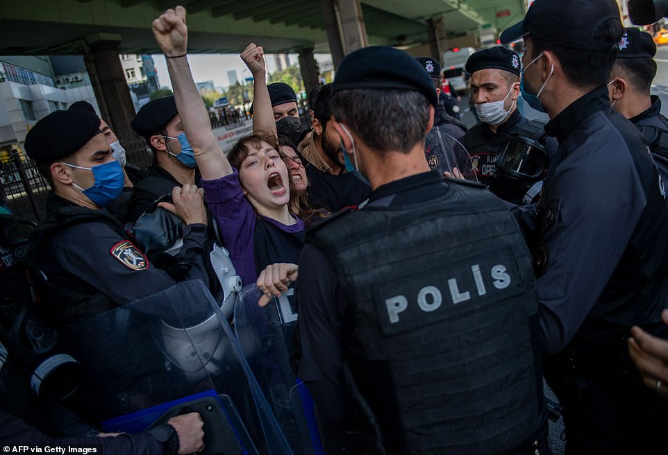 ISTANBUL, TURKEY: Thousands of protests took part in the international worker's day rally in Istanbul, Turkey, which boasts the highest Covid-19 infection rate in Europe