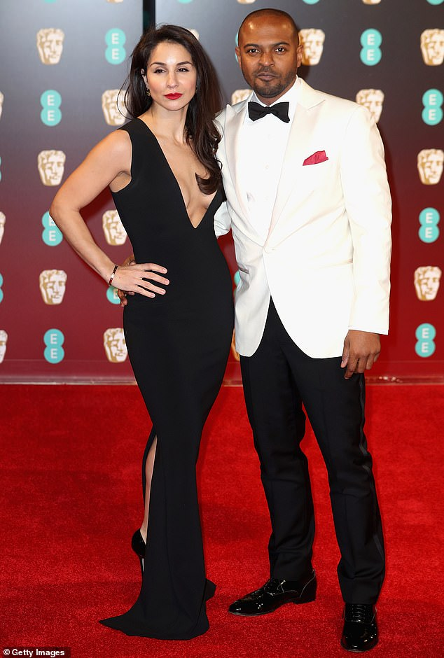 Clarke pictured with his wife,former make-up artist Iris Da Silva, at the 70th EE British Academy Film Awards at Royal Albert Hall in February 2017