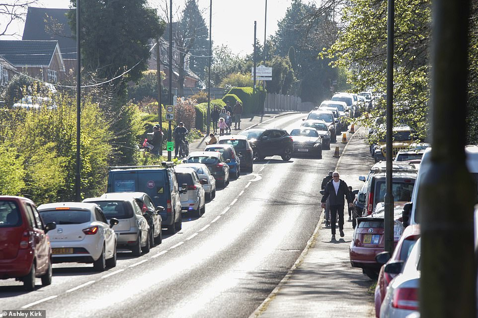 Dozens of cars were seen blocking roads as they made their way to the popular car boot sale