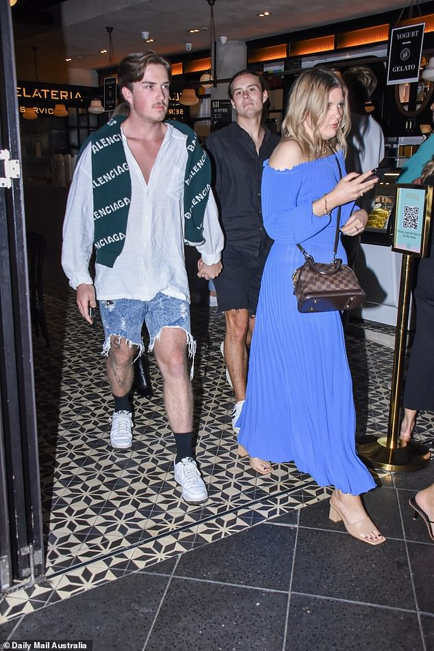 Spotted: The 22-year-old student who hails from Sydney's Eastern Suburbs was spotted for the first time since making his television debut on the Channel Seven reality show
