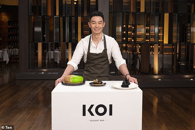His own taste:Reynold Poernomo (pictured) is known as the 'dessert king' and owns two KOI eateries geared towards sweet treats - with a third soon opening. But the MasterChef Australia star, 27, admits that he doesn't eat his own creations